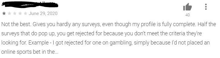 Qmee declines this user's surveys.