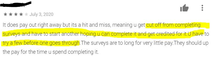 Qmee declines surveys often and you don't get paid.