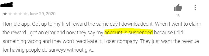QuickThoughts bans accounts.