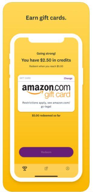 SurveyMonkey Rewards redeem Amazon card.