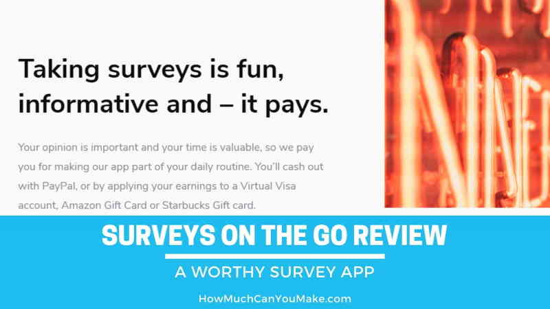 Surveys On The Go review.