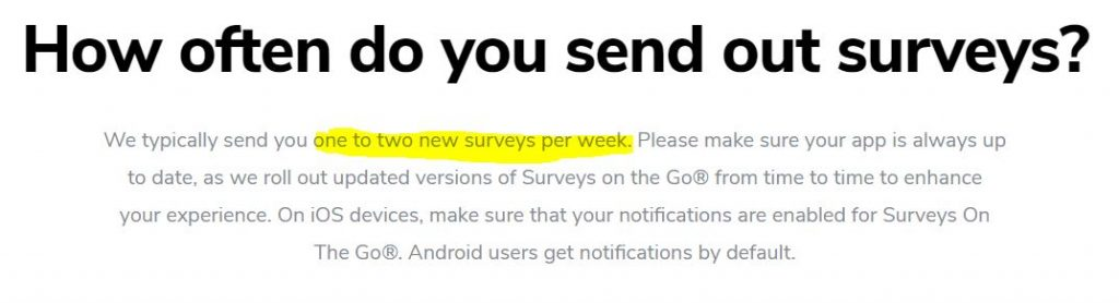 Get more surveys with Surveys On The Go.